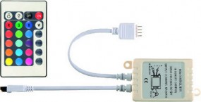 LED Flex Stripe RGB Controller DC12, inkl. Infrarot Fernbedienung, gemeinsamer Minuspol,