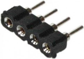 Systembuchse, 4-pol zum Löten für LED RGB Flex Stripe