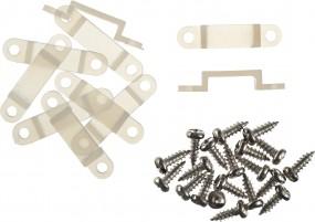 Silikonschellen für die Befestigung von LED-Flex Stripes, Inhalt: 10 Stück mit 20 Schrauben