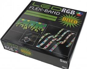 LED Flex Stripe Disco Set IP65, inkl. Fernbedienung, Kontroller und Netzteil. DC12V, 2A (24 Watt)