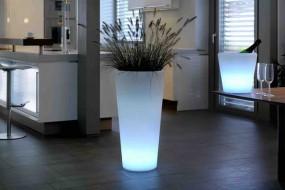 Deko Leuchte Flower Pot L, ø 42 cm | H 85 cm, Lithium Akku, DC 7,5V/600mA