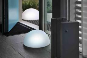 Deko Leuchte Half Globe S ø 35 cm| H 18 cm cm, Lithium Akku, DC 7,5V/600mA, 9 LEDs, 3 x weiss,